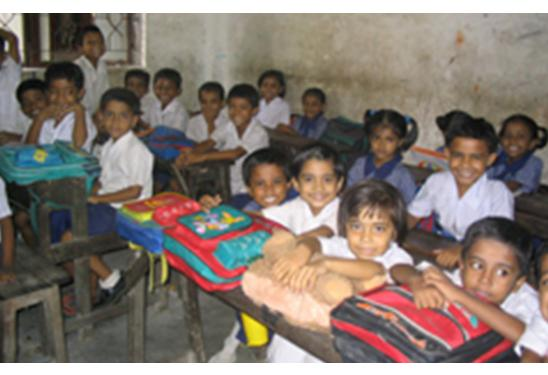 Classroom of children at school in India